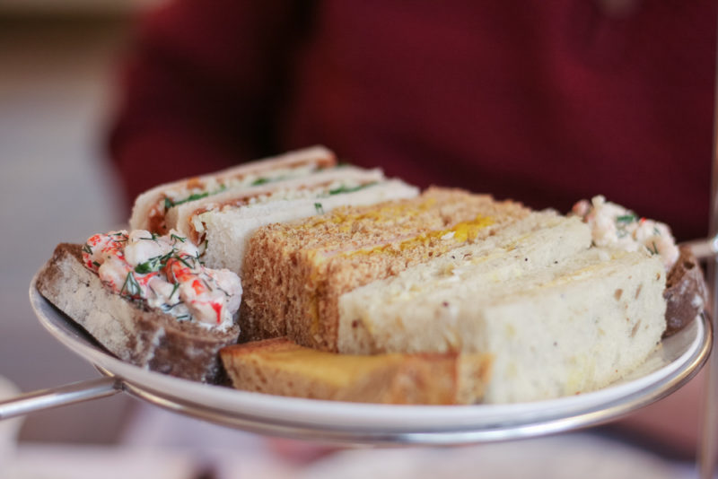 The sandwiches during Afternoon Tea at Laura Ashley The Tea Room