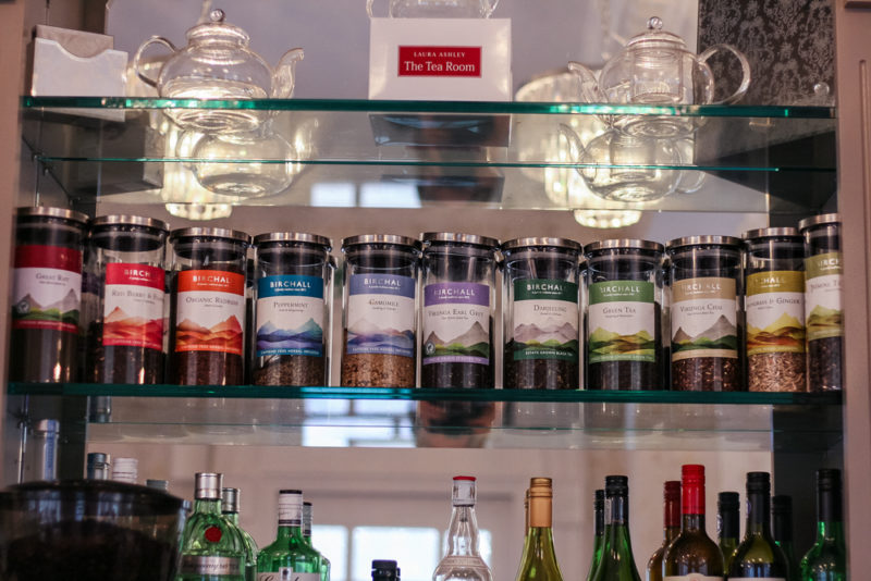 The selection of teas available at Laura Ashley The Tea Room