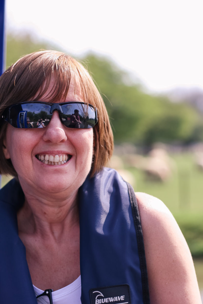 Happy Nanny Pol on the boat