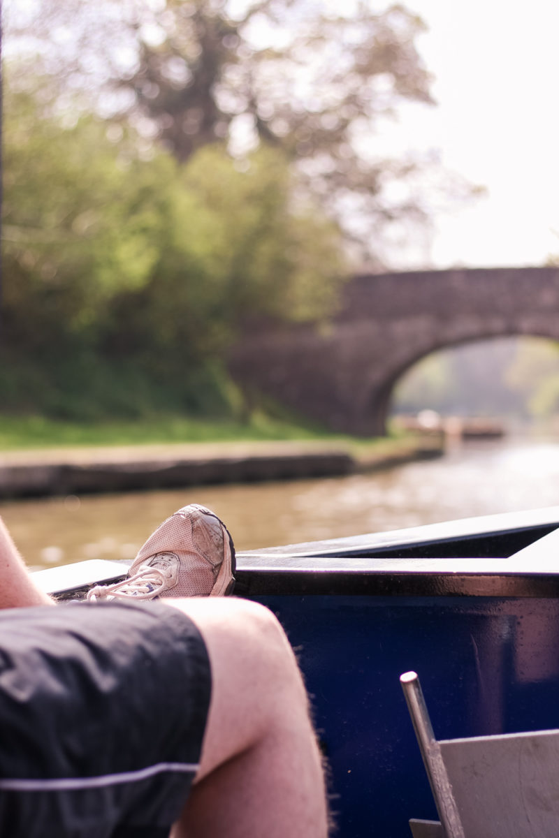 Relaxing on the canal boat