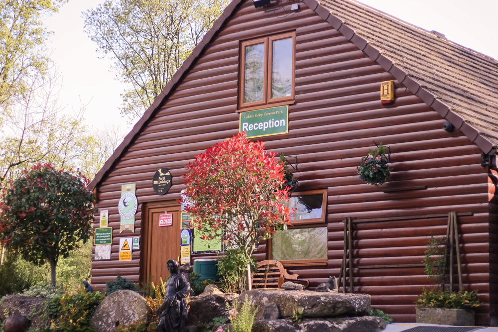The Reception at Golden Valley Camping and Caravan Site