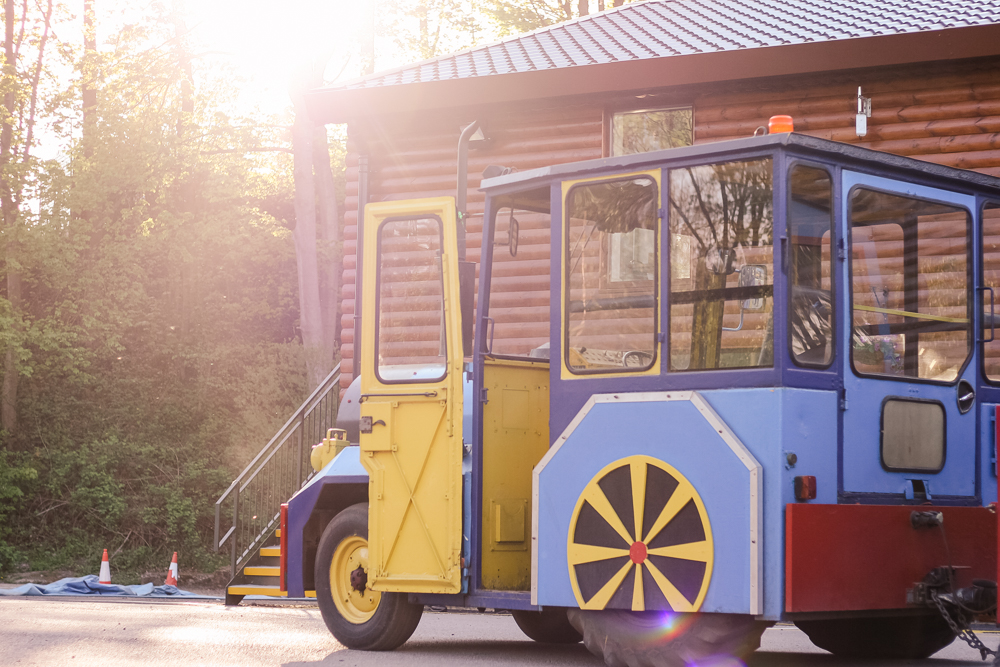 The land train at Golden Valley