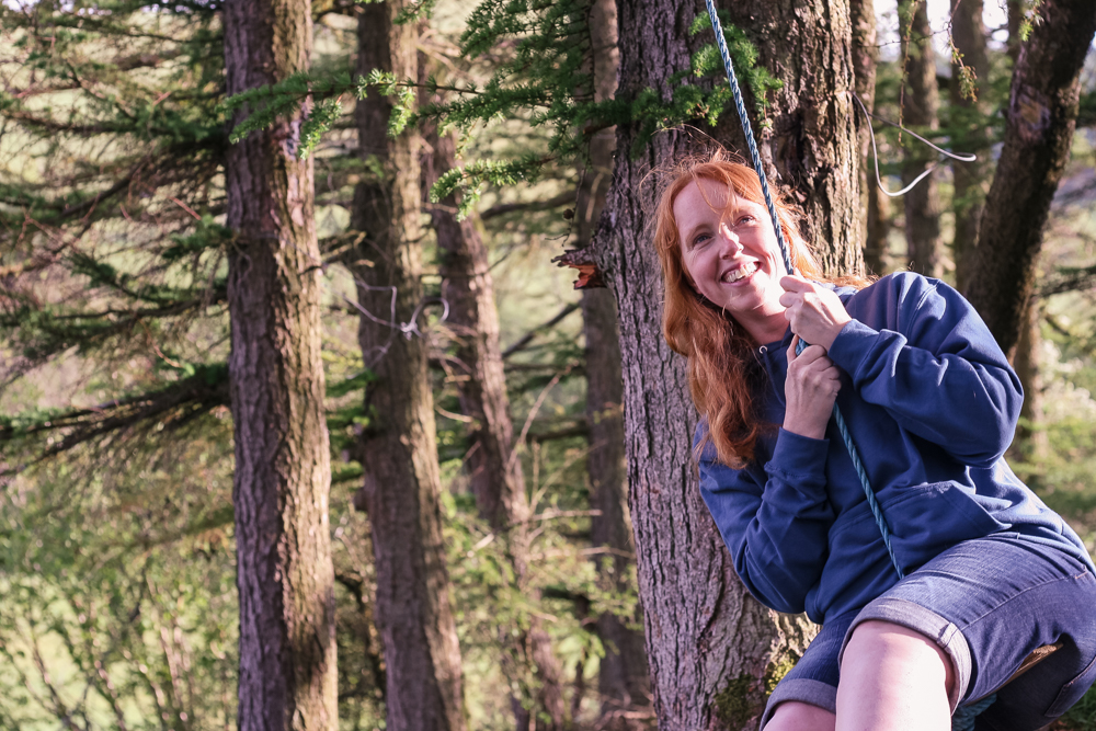 Donna swinging at the Retreat
