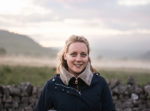 Happy Holly surrounded by mist in the Yorkshire Dales wearing Regatta Outdoors