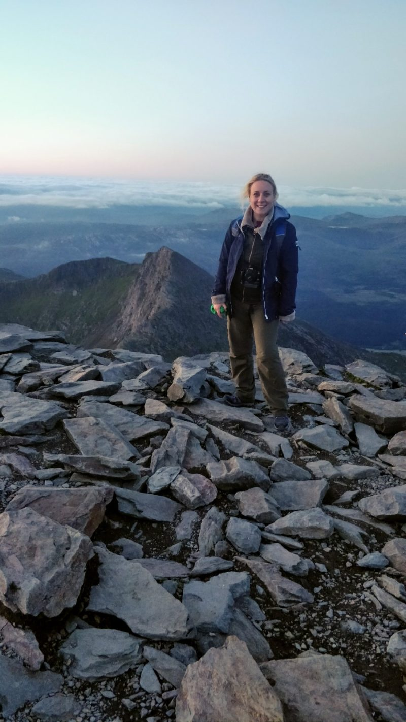 Standing on the top of Mount Snowdon