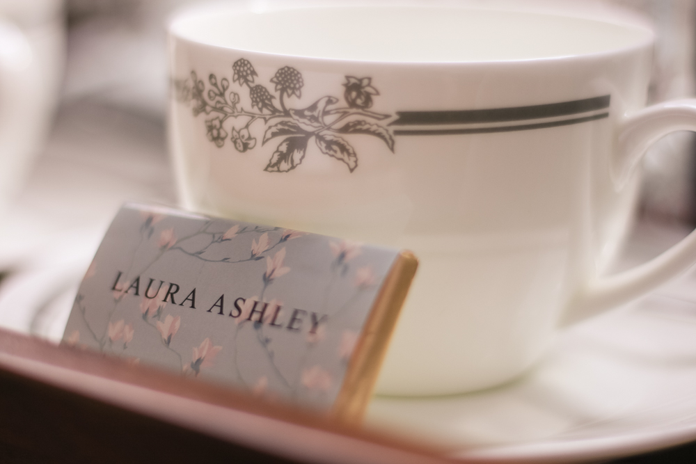 Laura Ashley chocolate on the tea tray