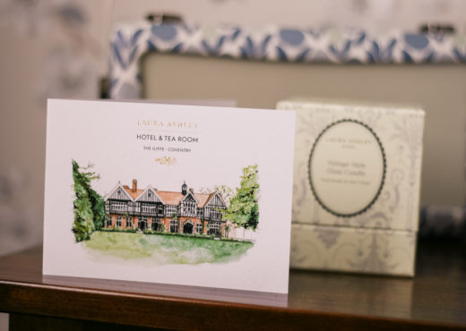 A watercolour print of Laura Ashley The Iliffe in Coventry