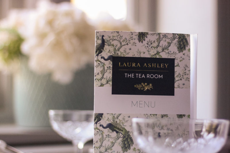 Laura Ashley The Tea Room menu