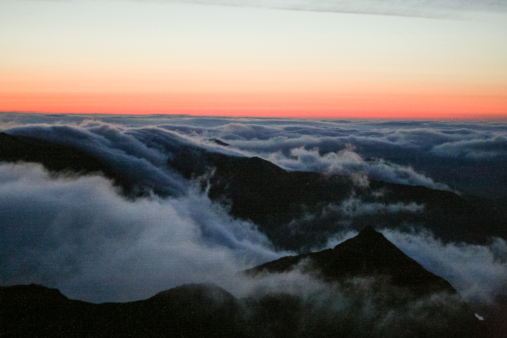 The view from the summit of Mount Snowdon