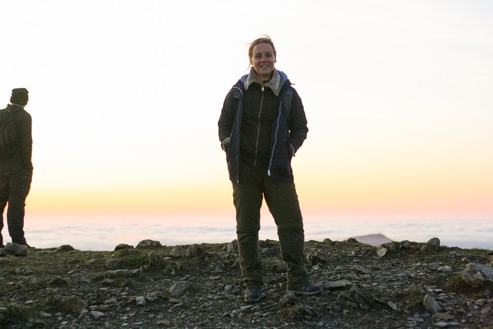 Stood near the summit of Mount Snowdon