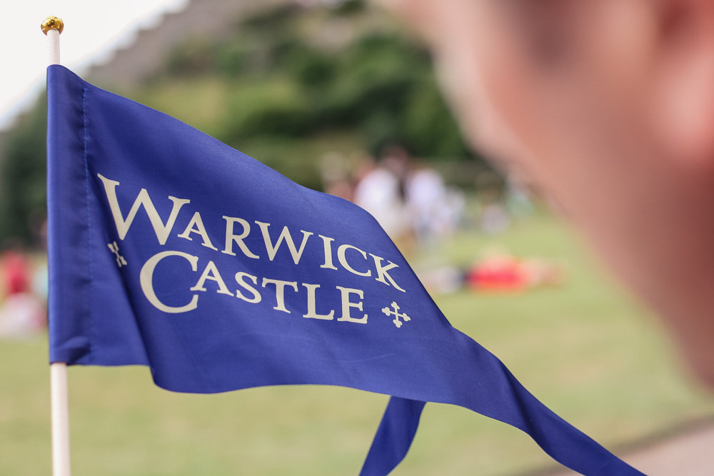 Warwick Castle blue flag
