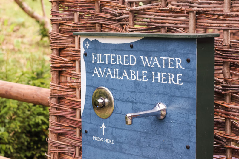Filtered water available at Warwick Castle