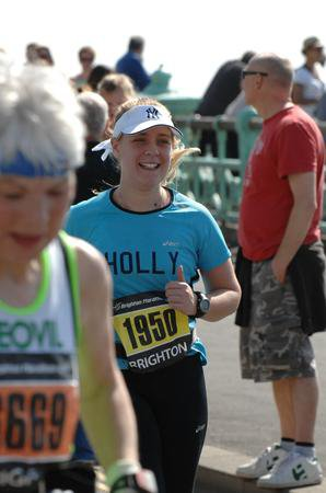 Holly running at the Brighton Marathon in 2011