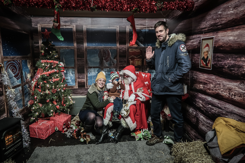 Visiting Father Christmas at Attwell Farm Park