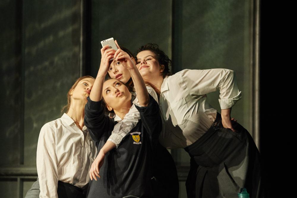 Girls taking a selfie in Asking For It Birmingham REP