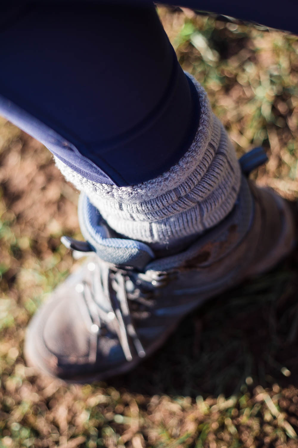 Close up of the Merino wool hiking socks