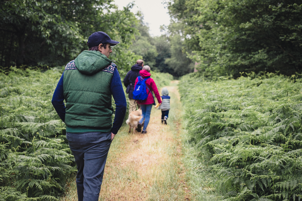Group walking the Umberslade Estate Walk