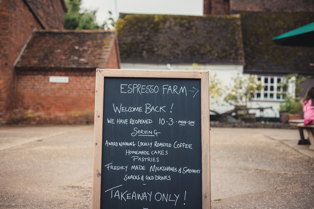 Espresso Farm signage at Umberslade Farm Park