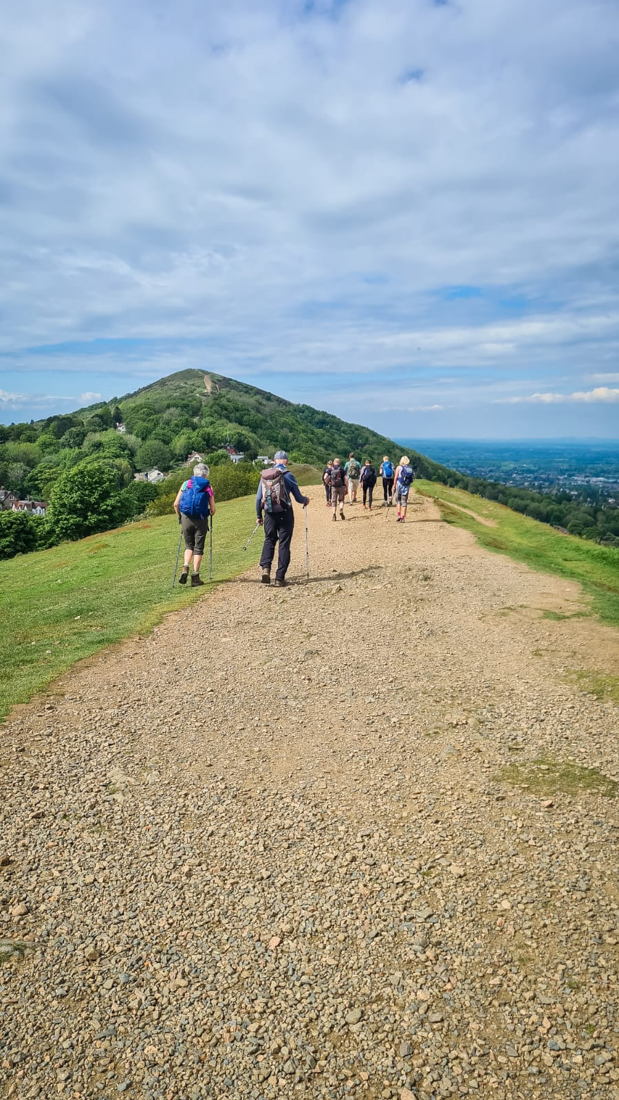 Walking the Malvern Hills as part of the Malvern Hills Walking Festival